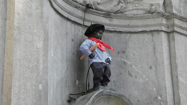 čůrající chlapec v Brusseli