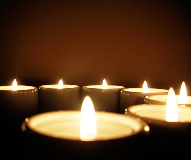 Horiace sviečky, relax