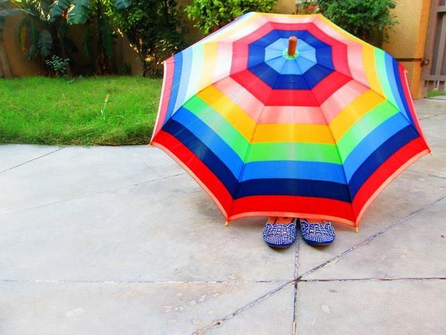 farebný dáždnik
